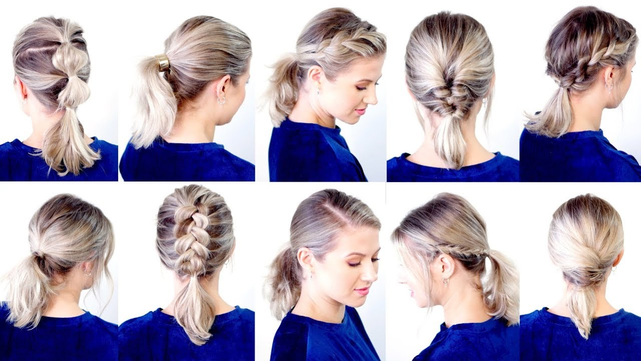 Top 10 ideas of hairstyles with a ponytail for different occasions